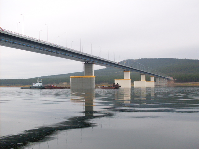 The angara river bridge construction project for Budet construction